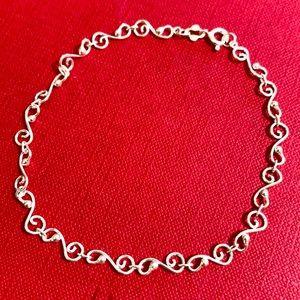 "🖤Silver plated 9"" bracelet"